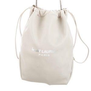 SAINT LAURENT leather shoulder bag. NEW W/ TAGS.